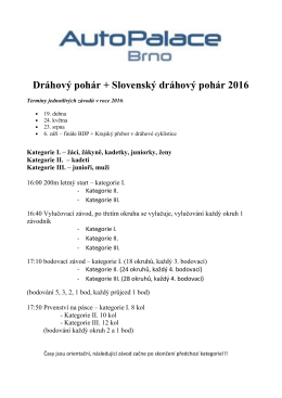Dráhový pohár + Slovenský dráhový pohár 2016