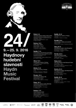 plakát k 24. Haydnovým hudebním slavnostem