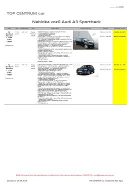 Exportovat vybrané vozy do PDF