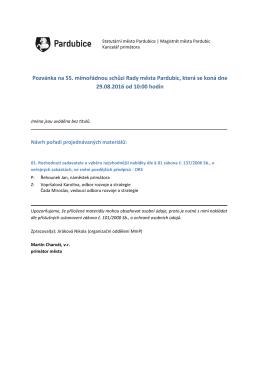Pozvánka na schůzi RMP