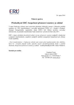 Předsedkyně ERÚ: bezpečnost přenosové soustavy je základ