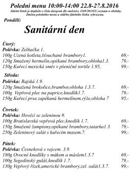 Denní menu - balasova