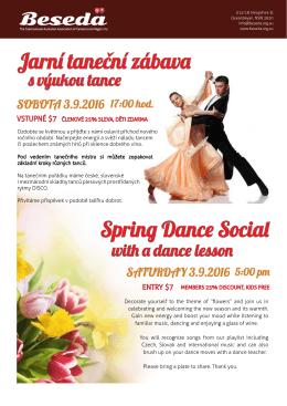 Jarní taneční zábava s výukou tance