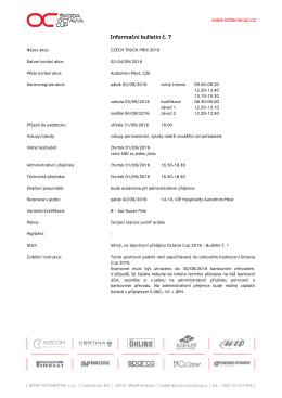 Informační bulletin č. 7