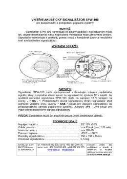 vnitřní akustický signalizátor spw-100