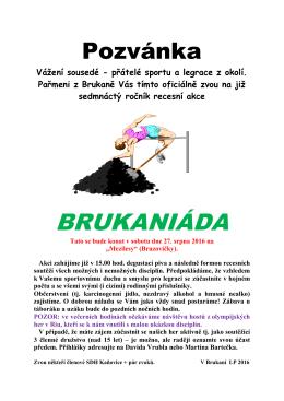 Pozvánka Bruk