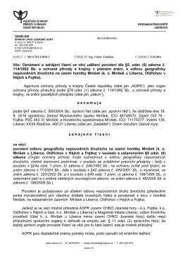 Zahájení řízení SR/1176/LI/2016
