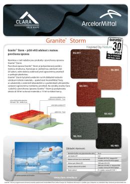 Granite® Storm - clara