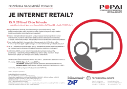 Je internet retail? - popai central europe