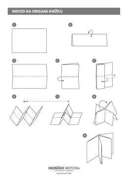 návod na origami knížku - H-mat