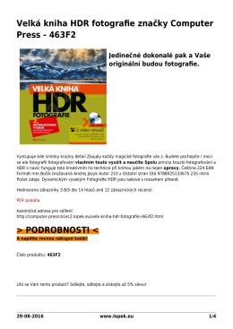 Velká kniha HDR fotografie značky Computer Press