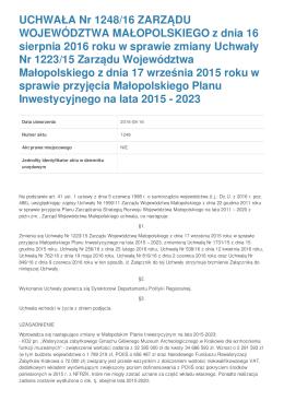 Biuletyny Informacji Publicznej w Województwie Małopolskim