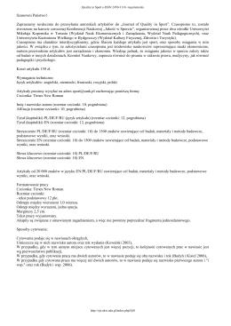 Print this article - Platforma czasopism Uniwersytetu Kazimierza