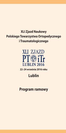 Lublin Program ramowy - XLI Zjazd Naukowy Polskiego