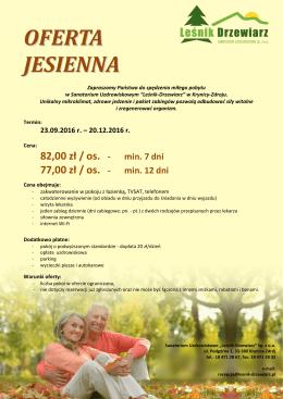 oferta jesienna - Sanatorium Leśnik