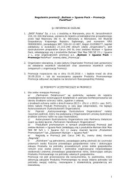 "Regulamin promocji ""Butisan + Iguana Pack – Promocja PackPlus"