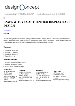 szafa witryna authentico display kare design