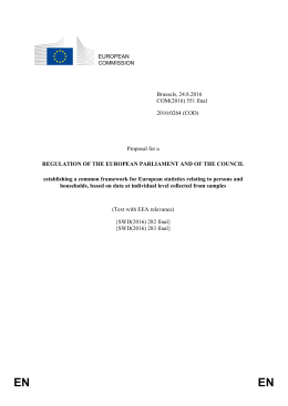 Proposal for a Regulation of the European Parliament