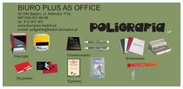 Oferta poligraficzna - Biuroplus