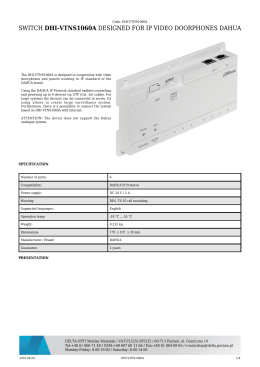 switch dhi-vtns1060a designed for ip video doorphones dahua