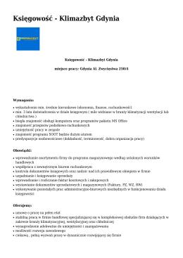 Księgowość - Klimazbyt Gdynia