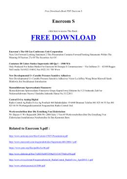ENERCOM S | Free eBook PDF