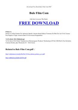 BULE FILM COM - Free Book