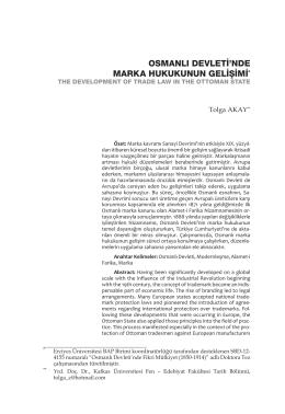 osmanlı devleti`nde marka hukukunun gelişimi