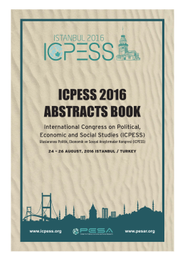 ICPESS 2016 Abstracts Books