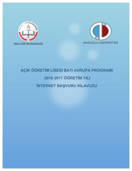 açık öğretim lisesi batı avrupa programı 2016