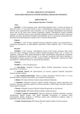 1 tc ġstanbul medenġyet ünġversġtesġ pedagojġk formasyon