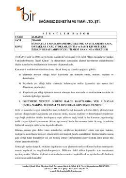 6736 sayılı yasa kapsamında işletme kayıtlarının kasa