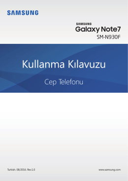 Ayarlar - Galaxy Note 7 Manual