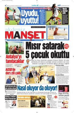 AOSB`de ders zili çaldı - Antalya Haber - Haberler