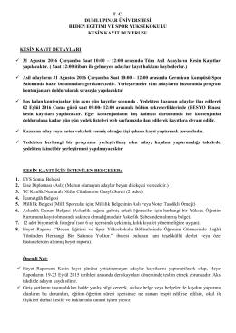 TC DUMLUPINAR ÜNİVERSTESİ BEDEN EĞİTİMİ VE - DPU-WEB