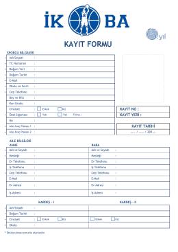 Kayıt Formu