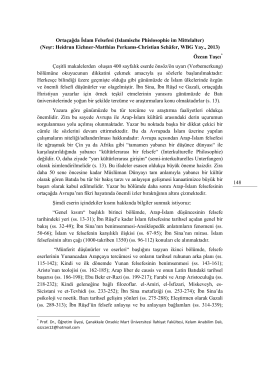 Tam Metin - Gumushane Universitesi Ilahiyat Fakültesi Dergisi