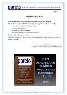 sırk-16-33 vergı affı 2016 hk.