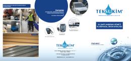 su şartlandırma hizmeti ve kimyasal ürün kataloğu teksukim