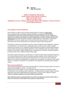 GÖREVLİ ÖĞRENCİ PROGRAMI - İstanbul Bilgi Üniversitesi