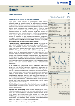 Banvit - İş Yatırım