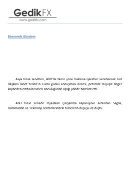 Günlük analiz - 25.08.2016