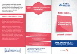 broşür - Katılım Emeklilik