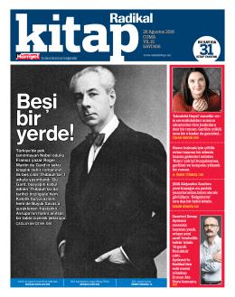 CUMA YIL 15 SAYI 806 26 Ağustos 2016 Türkiye - Kitap