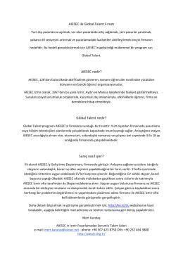 AIESEC ile Global Talent Fırsatı AIESEC nedir?