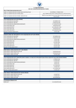 2016-2017 Lisans/Önlisans Başvuru Takvimi