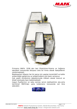 Katalog - MAFA-Shop - MAFA-Sebald Produktions-GmbH