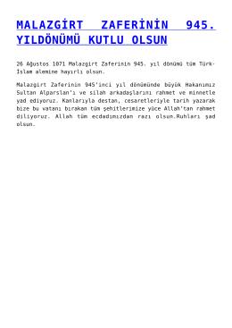 malazgirt zaferinin 945. yıldönümü kutlu olsun