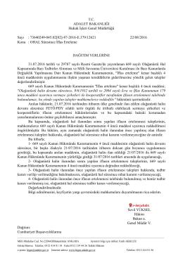 T.C. ADALET BAKANLIĞI Hukuk İşleri Genel Müdürlüğü Sayı