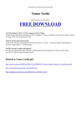 NAIMA TARIHI - Free Book